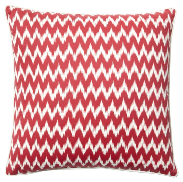Ikat 20x20 Pillow, Red