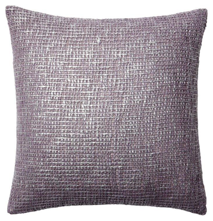 Nico 20x20 Pillow, Lavender/Silver