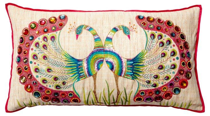 Bijou 14x26 Embroidered Pillow, Multi