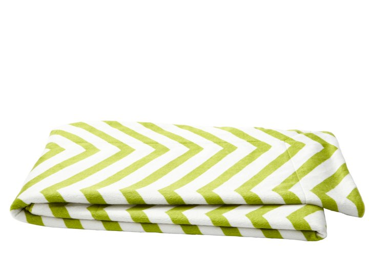 Chevron Throw, Oasis Green