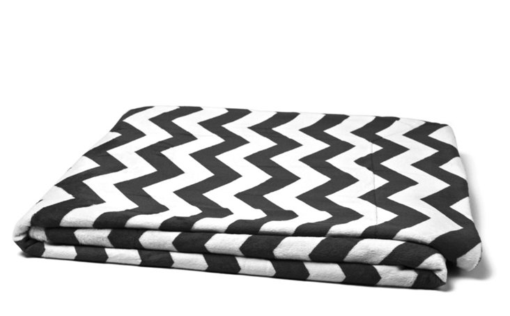 Chevron Throw, Black/White