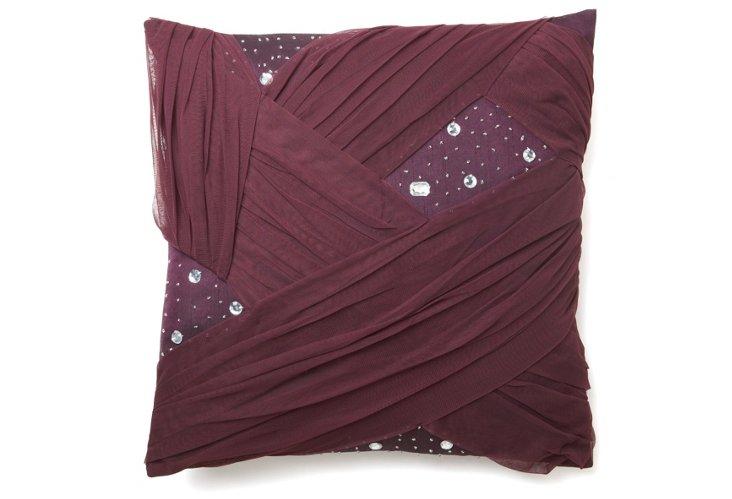 Lorin 18x18 Pillow, Blackberry
