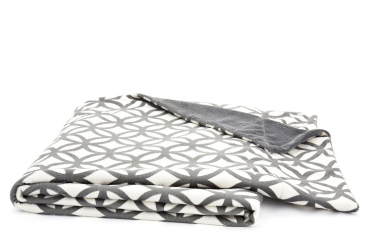 Moroccan Ring Throw, Frost Gray