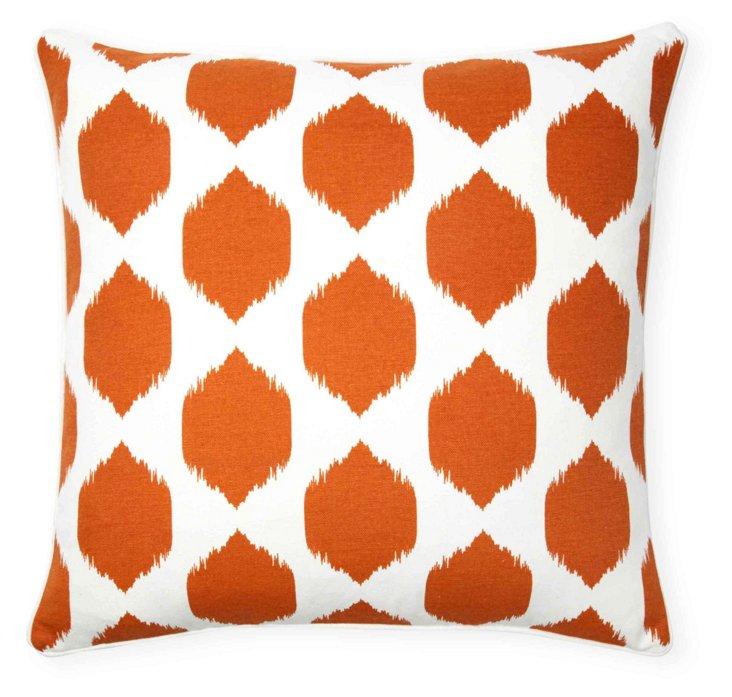 Isabella Ikat 20x20 Pillow, Burnt Orange