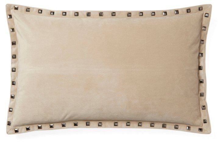 Payton 12x20 Velvet Pillow, Natural