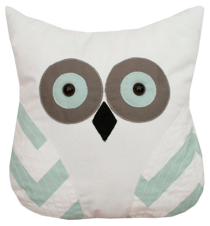 Owl 12x12 Pillow, Gray