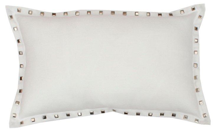 Studs 12x20 Pillow, White