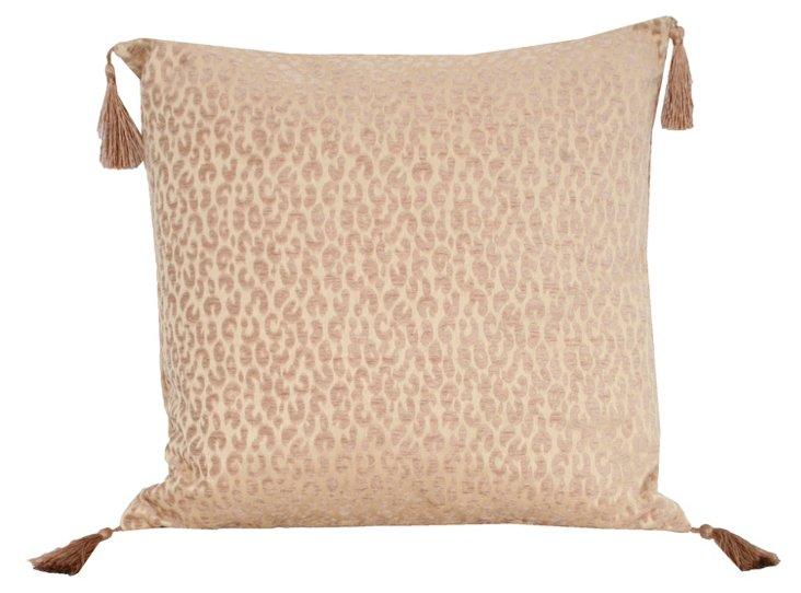 Cheetah 20x20 Pillow, Natural