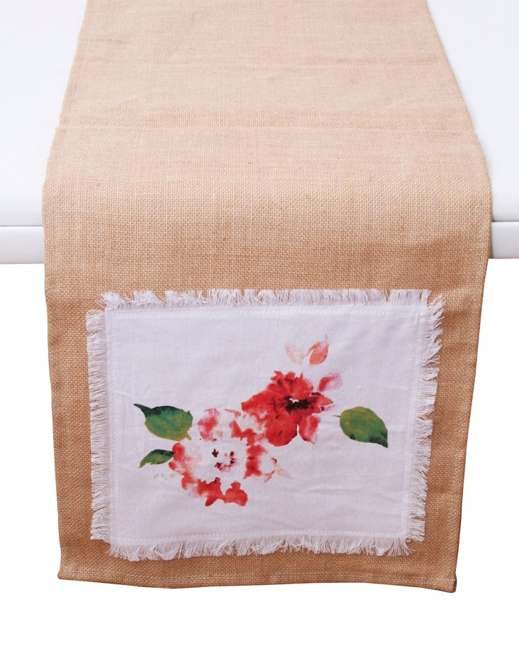 Floral Applique Table Runner