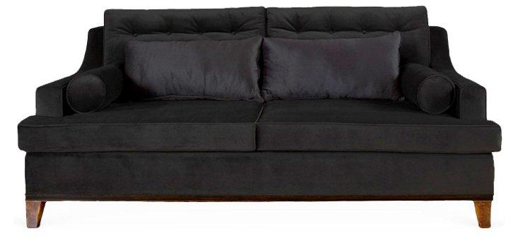 "Bravo 98"" Sofa, Black"