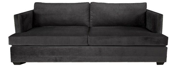 "Moore 94"" Sofa, Black"