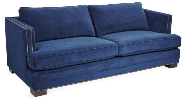 Moore Sofa, Blue