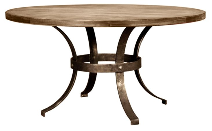 Marina Round Dining Table, Almond/Honey
