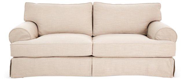 "Monaco 89"" Linen Sofa, Beige"