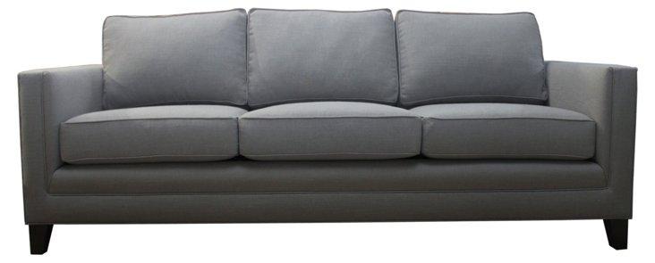 Anna Linen Sofa, Gray