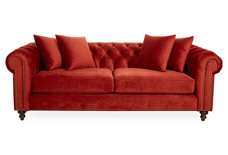 Saretta Chesterfield, Crimson Velvet
