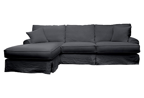 Carlie Sectional, Charcoal