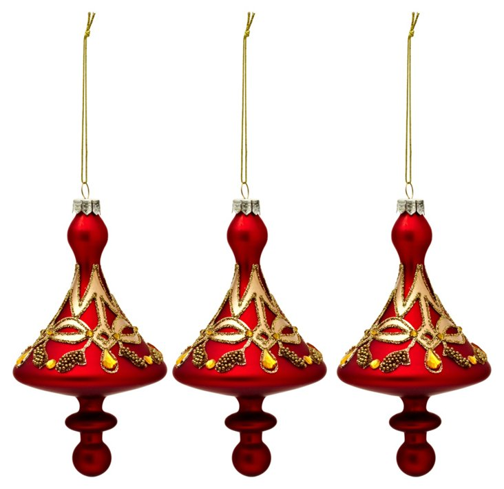 S/3 Top Shaped Ornaments