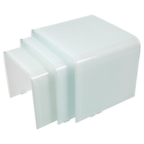 White Waterfall Nesting Tables, S/3