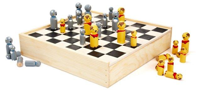 Cats vs. Dogs Checker Set