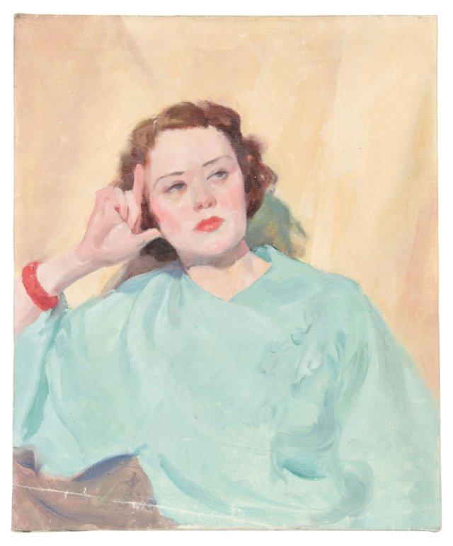 1940s Portrait of an Elegant Woman
