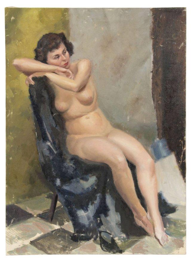 Studio Portrait of Nude, Robert T. Ayres