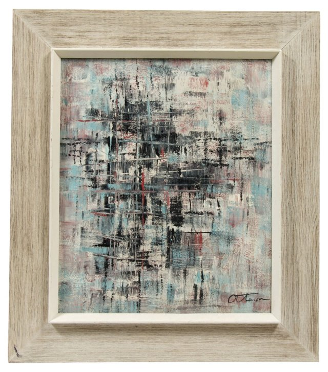 Midcentury Abstract Oil Painting