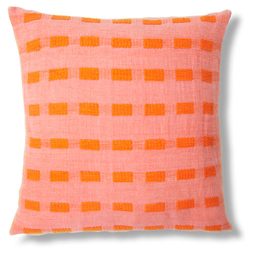 Coral 20x20 Pillow, Tangerine