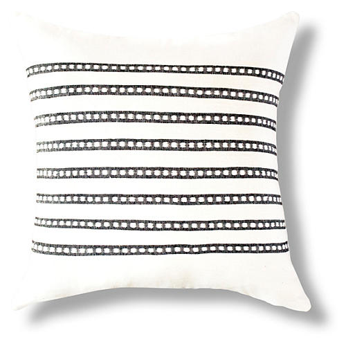 Dessie 18x18 Pillow, Onyx