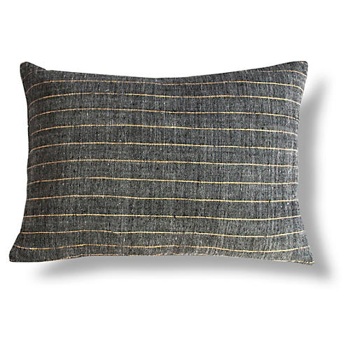 Leul 12x18 Lumbar Pillow, Gold