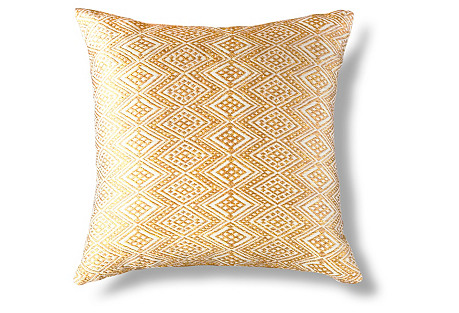 Qertz 18x18 Pillow, Gold