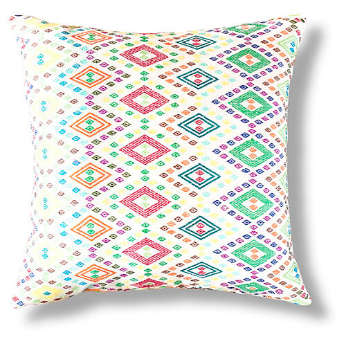 Zeray 18x18 Pillow, Red/Green