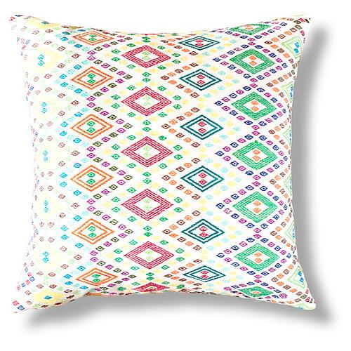 Zeray 18x18 Pillow, Red/Green