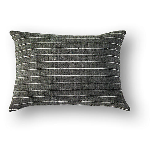 Leul 12x18 Cotton Pillow, Silver