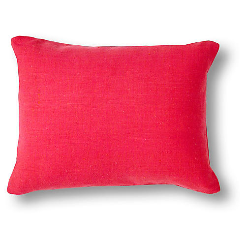 Solid Mini 12x16 Pillow, Hot Pink