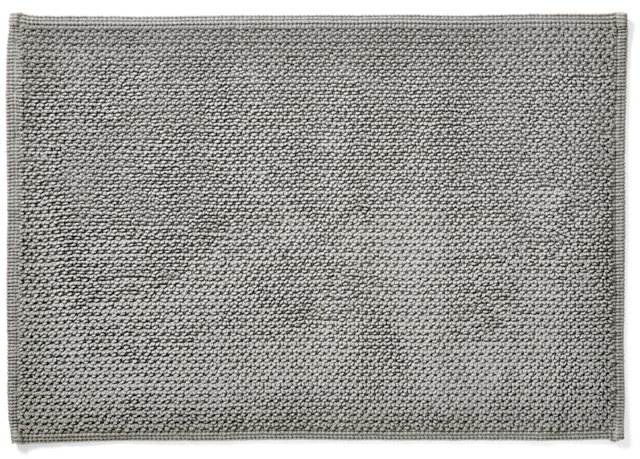 Double Face Bath Rug, Pewter