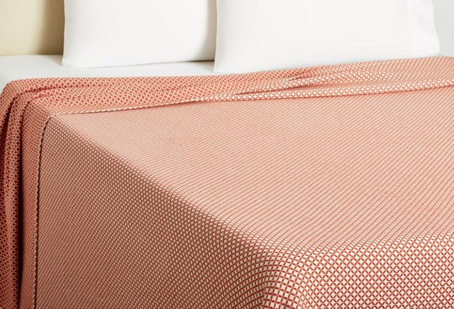 King Tile Blanket, Cinnabar