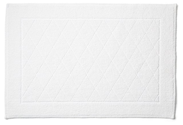 Harlequin Bath Rug, White