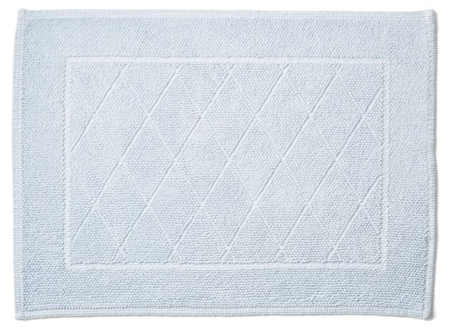 Harlequin Bath Rug, Ice Blue