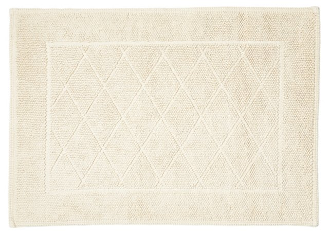 Harlequin Bath Rug, Natural