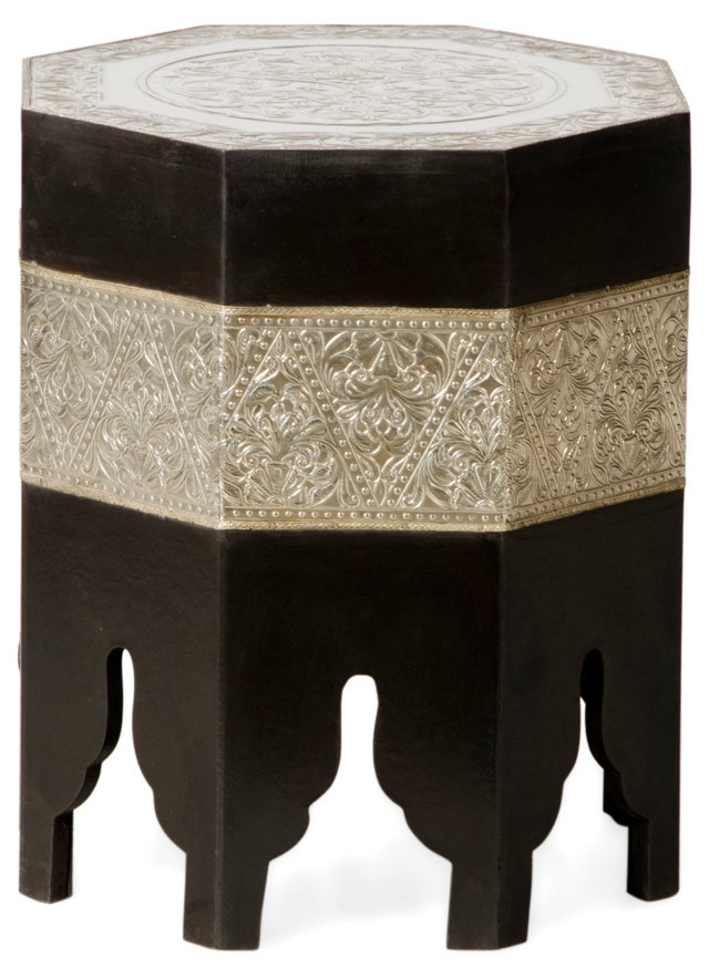 Divinia Moroccan Table, Black/Silver