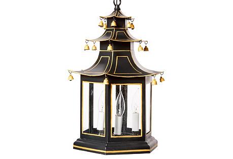 Pagoda Lantern, Black