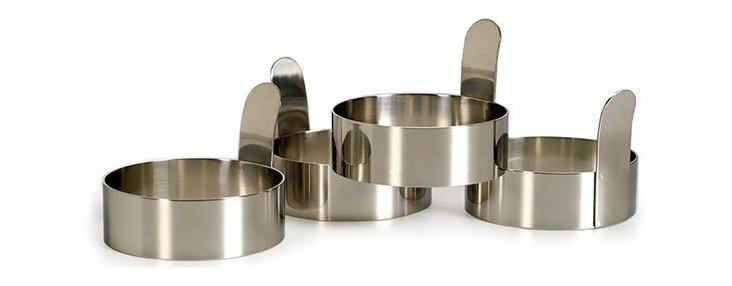 S/4 Stainless Steel Egg Rings