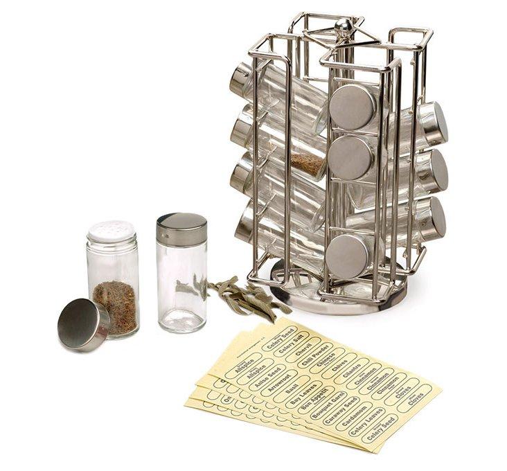 Revolving Spice Rack w/ 16 Jars