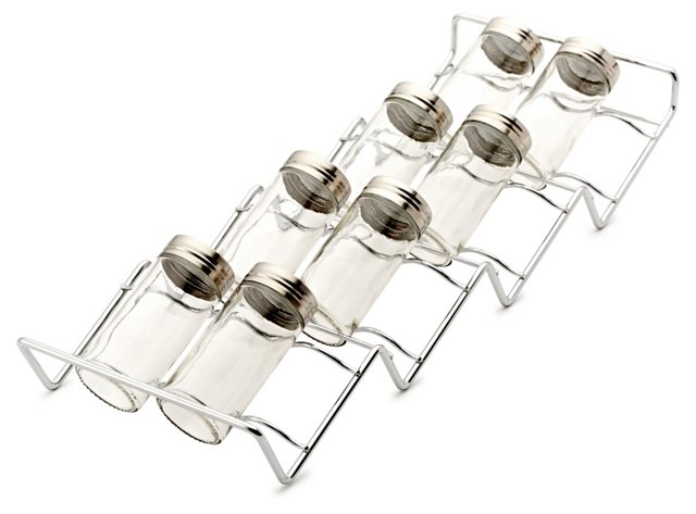 In-Drawer Spice Rack w/ 12 Jars