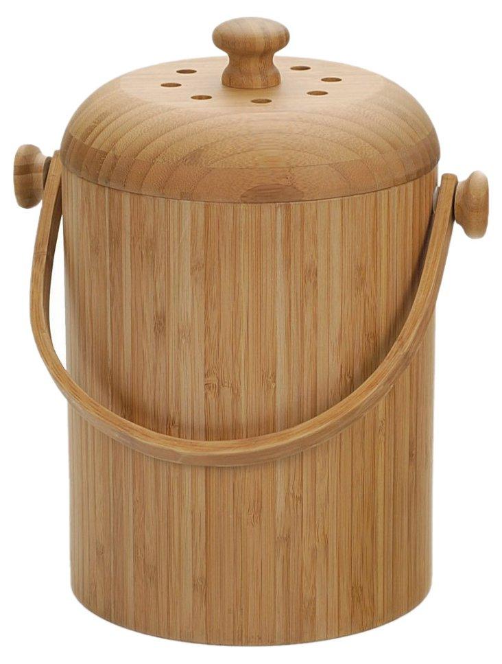 Bamboo Compost Pail, 3 Qt