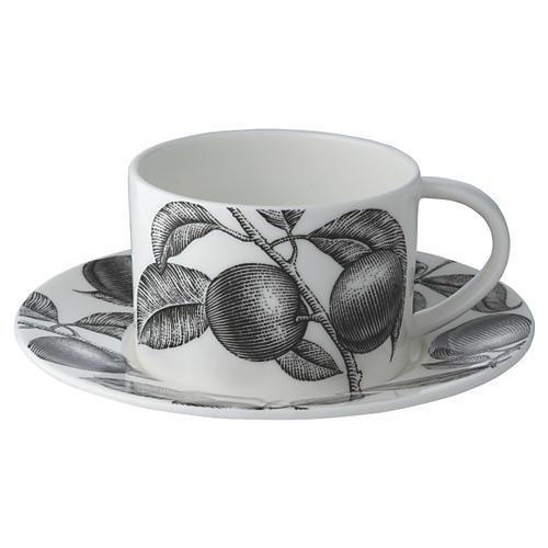 Olive Market Teacup & Saucer