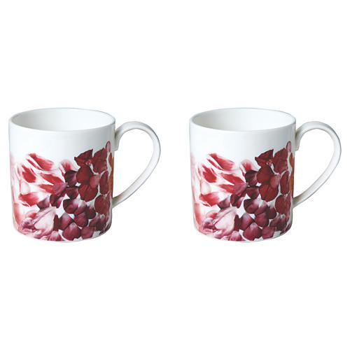 S/2 Petals Mugs, 13 Oz