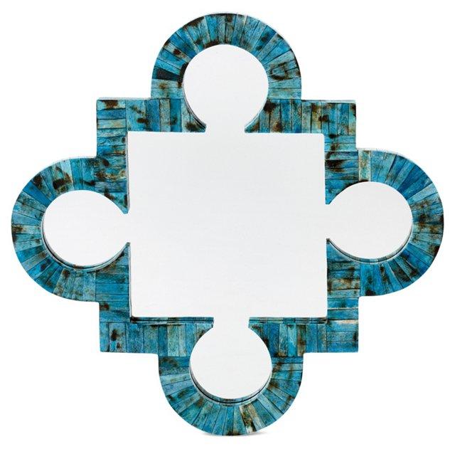 Lance Bone Wall Mirror, Verdigris