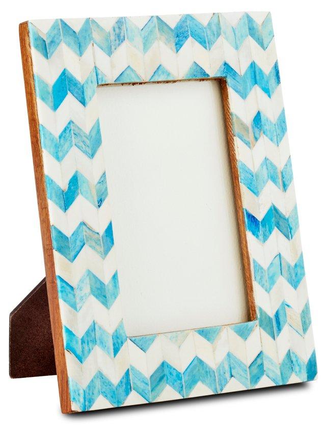 4x6 Herringbone Frame, Turquoise